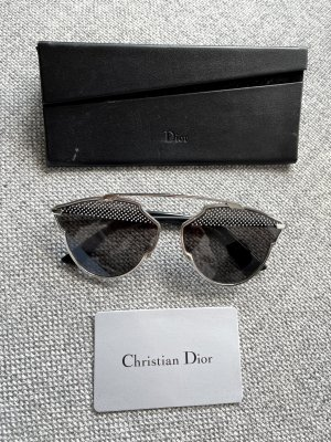 Christian Dior Retro Glasses black-silver-colored
