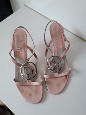 Dior Escarpin à bride arrière rose-argenté cuir