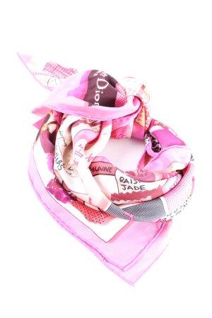Dior Summer Scarf pink-black casual look