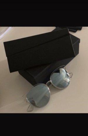 Christian Dior Lunettes papillon argenté-bleu azur