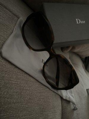 Dior Gafas de sol redondas negro-marrón