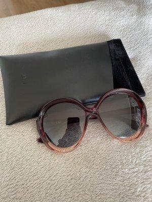 Christian Dior Round Sunglasses bordeaux