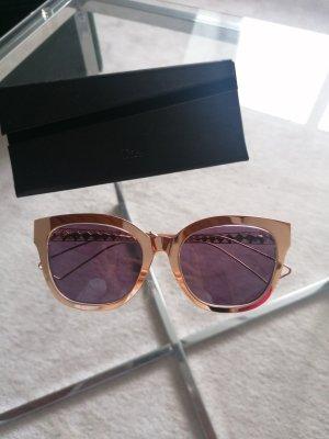 Christian Dior Owalne okulary przeciwsłoneczne w kolorze różowego złota