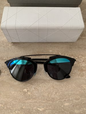 Dior Gafas de sol redondas negro-azul