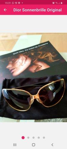 Christian Dior Lunettes de soleil ovales doré