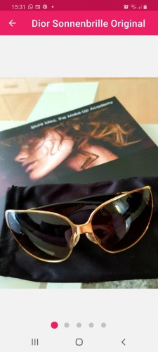 Christian Dior Gafas de sol ovaladas color oro