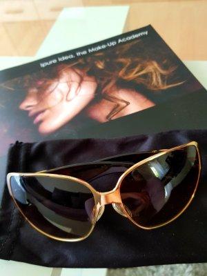 Dior Occhiale da sole rotondo nero-oro