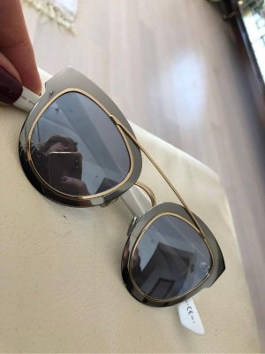 Christian Dior Occhiale panto argento