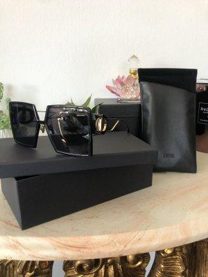 Christian Dior Angular Shaped Sunglasses black-gold-colored