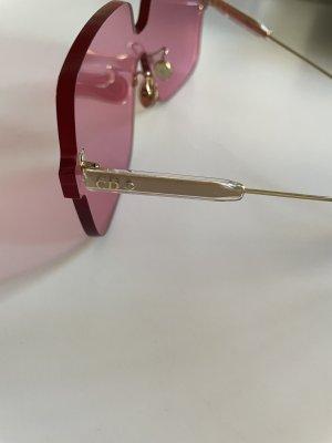 Dior Kwadratowe okulary przeciwsłoneczne różowy-srebrny