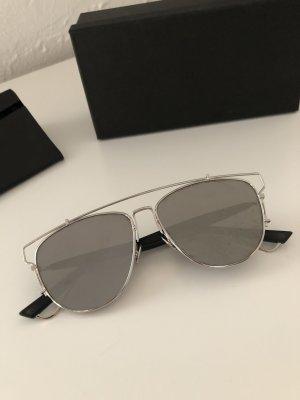Christian Dior Aviator Glasses silver-colored-black