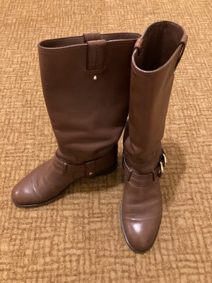 Christian Dior Short Boots cognac-coloured leather