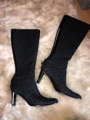 Dior Buty na obcasie czarny-ciemnoniebieski