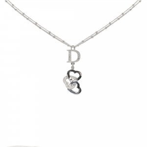 Dior Triple Heart Logo Necklace