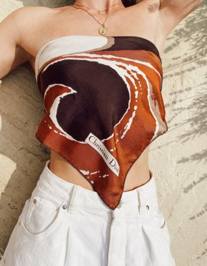 Christian Dior Zijden sjaal veelkleurig