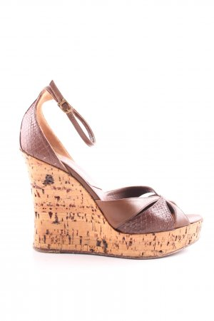 Dior Wedges Sandaletten braun Animalmuster Casual-Look