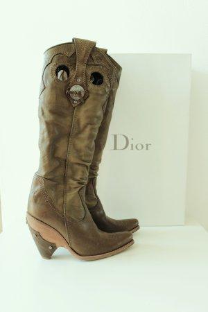Dior Western Cowboy Stiefel Boots khaki Gr. 36,5