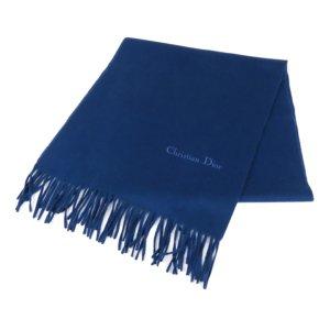 Dior Scarf blue wool