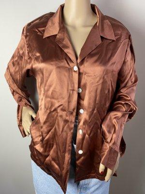 direct clothing Cols de blouses brun tissu mixte