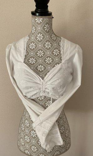 gwandlalm Blusa tradizionale bianco Cotone