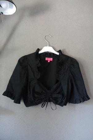 Krüger Dirndl Blusa tradizionale nero Tessuto misto
