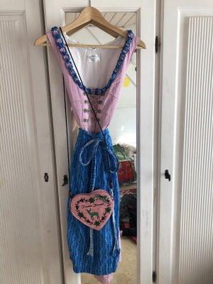 Dirndl pink-blue