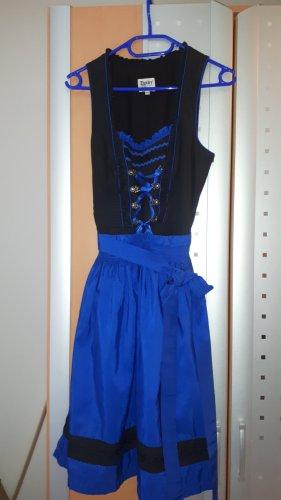 Distler Dirndl czarny-niebieski