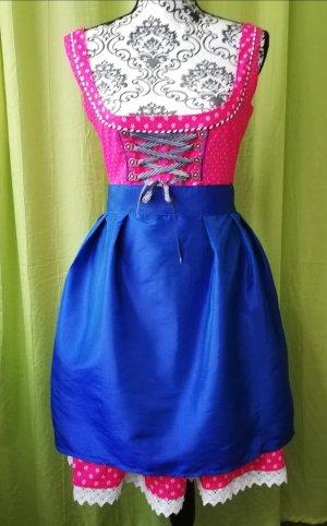 Amisu Dirndl roze-blauw