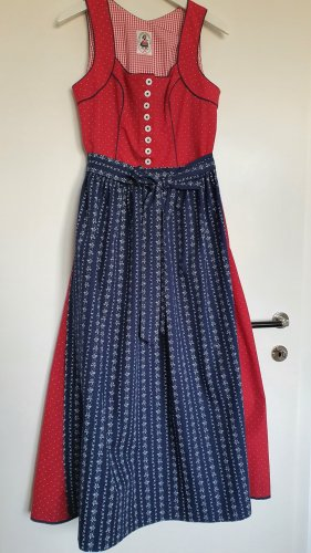 orig. Salzburger Dirndl red-blue