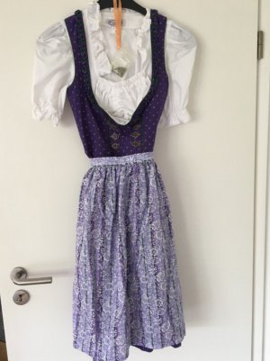Robe mi-longue multicolore