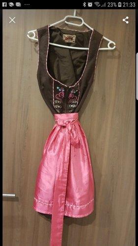 Stockerpoint Dirndl marrone-rosa