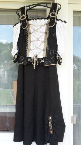 Siebenstein Sukienka z baskinką Wielokolorowy