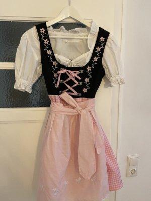 Dirndl light pink-black
