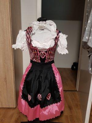 Landhaus by C&A Vestido Dirndl negro-rosa