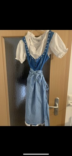 Dirndl white-blue
