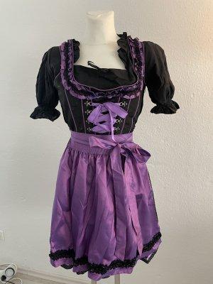 edelheiss Dirndl noir-bleu violet