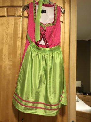 Dirndl verde-rosa