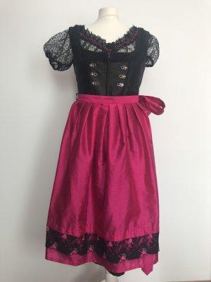 Alphorn Dirndl noir-rose