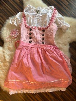 Alpenmärchen Mini Dress white-pink