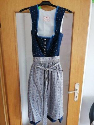 Alpenherz Vestido Dirndl gris-azul oscuro