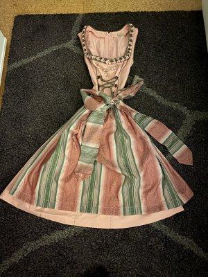 C&A Vestido Dirndl rosa-verde oliva