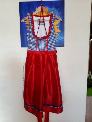 Alpin de luxe Dirndl red-blue