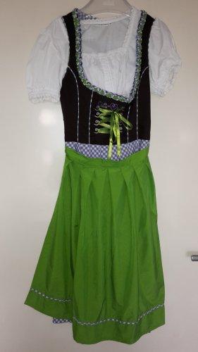 Vestido Dirndl lila-verde