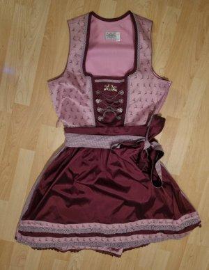 Landhaus Vestido Dirndl rosa-púrpura