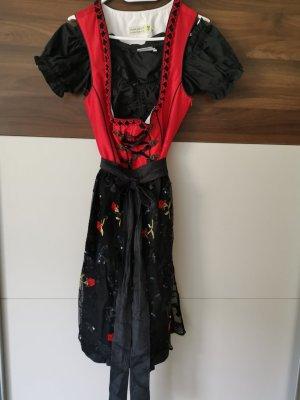 Tramontana Dirndl noir-rouge foncé