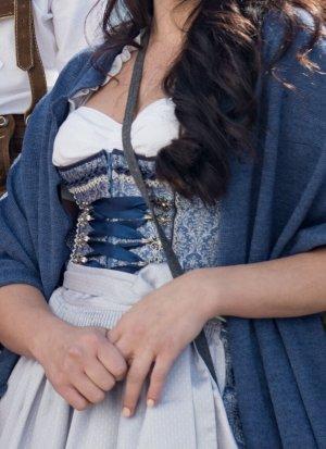 Krüger Dirndl Dirndl silver-colored-blue
