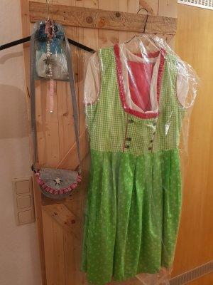 Dirndl pink-lime-green