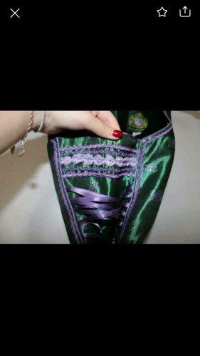 Hammerschmid Dirndl viola scuro-verde scuro