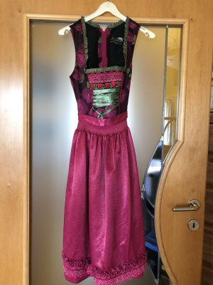 Dirndl purple-dark green