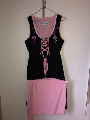 Dirndl.com Vestido Dirndl negro-rosa